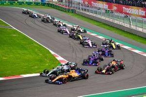 Lando Norris, McLaren MCL34,Valtteri Bottas, Mercedes AMG W10, Max Verstappen, Red Bull Racing RB15, Daniil Kvyat, Toro Rosso STR14, Pierre Gasly, Toro Rosso STR14, Daniel Ricciardo, Renault F1 Team R.S.19