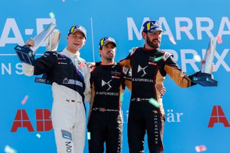 Antonio Felix da Costa, DS Techeetah, 1st position, Maximilian Günther, BMW I Andretti Motorsports, 2nd position, Jean-Eric Vergne, DS Techeetah, 3rd position,