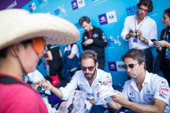 Jean-Eric Vergne, DS Techeetah, Antonio Felix da Costa, DS Techeetah at the autograph session