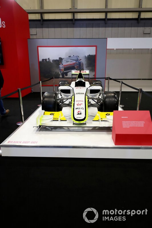 Brawn BGP001 on the Autosport stand