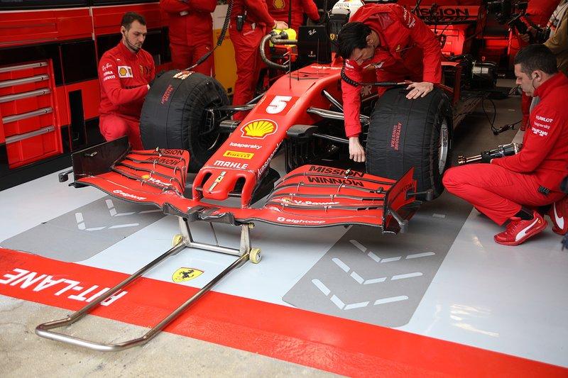 Ferrari SF1000, dettaglio dell'ala anteriore