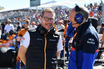 Andreas Seidl, Team Principal, McLaren, and Franz Tost, Team Principal, Toro Rosso, on the grid