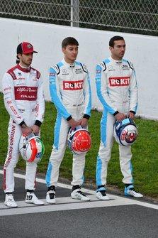 Antonio Giovinazzi, Alfa Romeo, George Russell, Williams Racing and Nicholas Latifi, Williams Racing