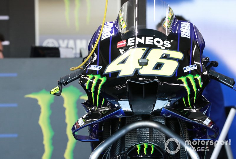 La Yamaha de Valentino Rossi