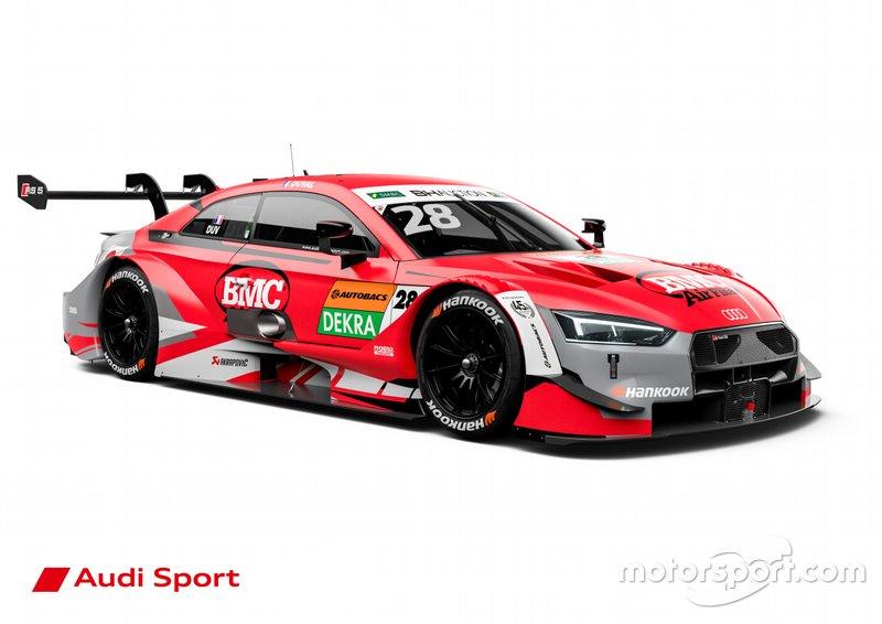 Bei Loic Duvals Phoenix-Audi bleibt die Grundfarbe Rot, der Sponsor hat sich aber geändert.
