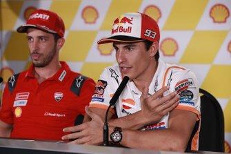 Andrea Dovizioso, Ducati Team,Marc Marquez, Repsol Honda Team
