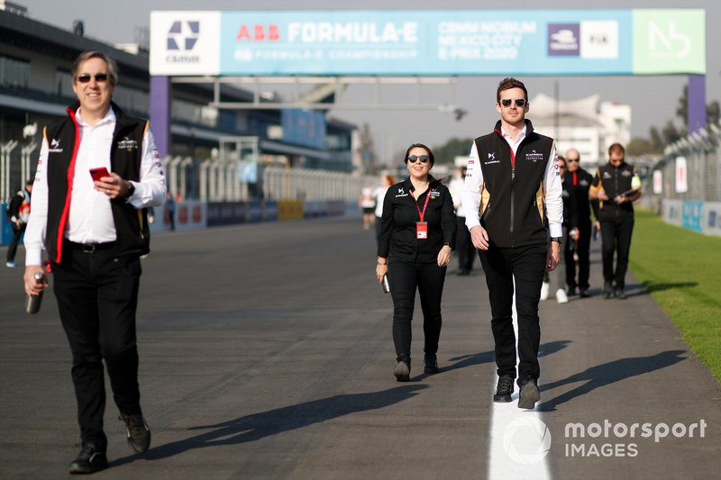 Mark Preston, Team Principal, DS Techeetah walks the track with other Pascal Tortosa, DS Techeetah Race Engineer