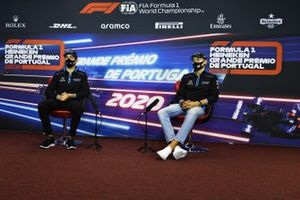 Nicholas Latifi, Williams Racing and George Russell, Williams Racing, in the press conference
