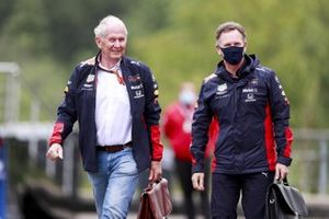Helmut Marko, Consultant, Red Bull Racing and Christian Horner, Team Principal, Red Bull Racing