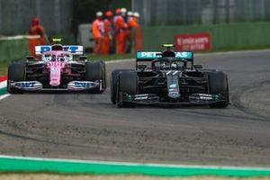 Valtteri Bottas, Mercedes F1 W11, Lance Stroll, Racing Point RP20