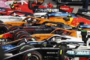 Le vetture nel Parco chiuso dopo la gara
