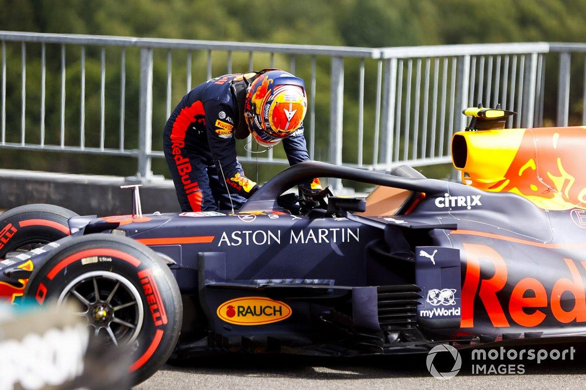 Alex Albon, Red Bull Racing in Parc Ferme