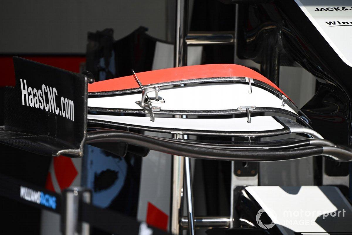 Haas F1: asa dianteira