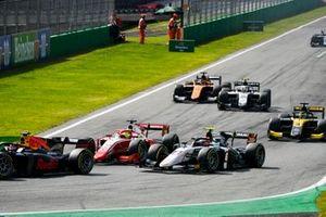 Mick Schumacher, Prema Racing and Christian Lundgaard, ART Grand Prix battle