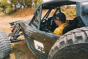Felipe Fraga no carro da equipe RMattheis