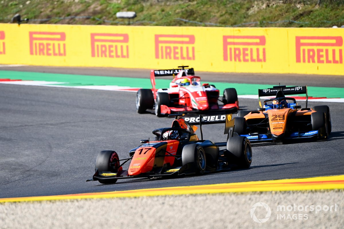 Richard Verschoor, MP Motorsport, Alexander Peroni, Campos Racing e Oscar Piastri, Prema Racing