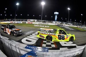 Matt Crafton, ThorSport Racing, Ford F-150 Ideal Door/Menards nd Chandler Smith, Kyle Busch Motorsports, Toyota Tundra JBL/Smith General Contracting