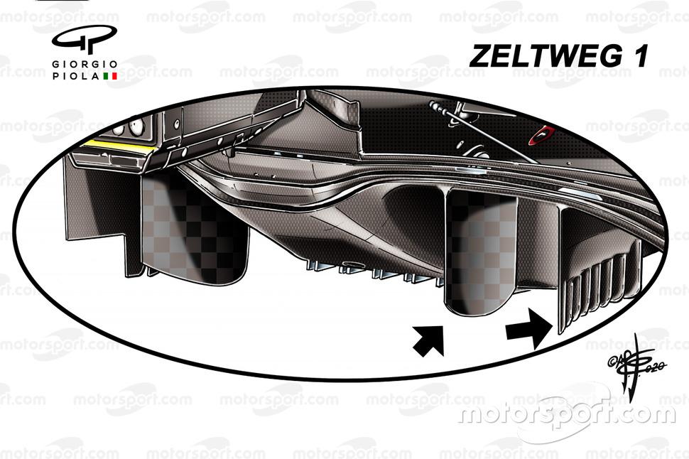Ferrari SF1000 diffuser detail