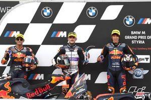 Top 3 after Qualifying: Jorge Martin, Red Bull KTM Ajo, Arón Canet, Angel Nieto Team, Tetsuta Nagashima, Red Bull KTM Ajo