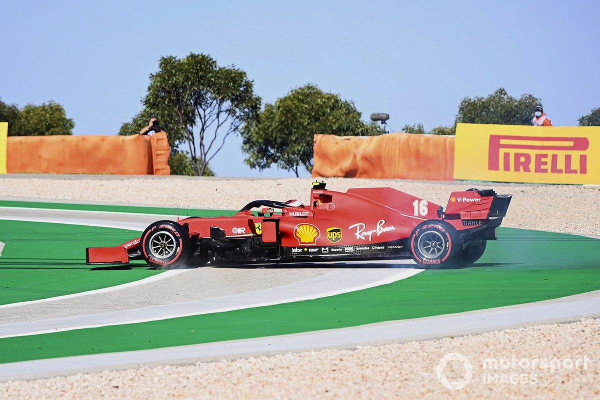 Trompo de Charles Leclerc, Ferrari SF1000