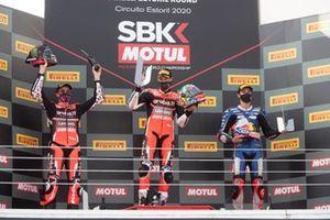 Scott Redding, Aruba.it Racing Ducati, Chaz Davies, ARUBA.IT Racing Ducati anbd Toprak Razgatlioglu, Pata Yamaha