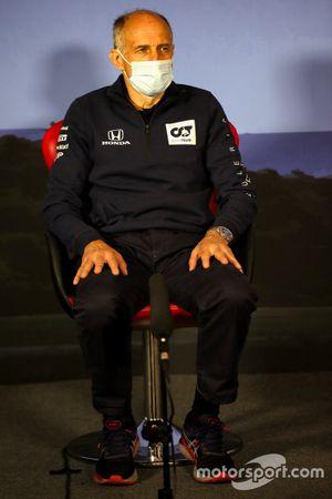 Franz Tost, Team Principal, AlphaTauri durante la conferenza stampa
