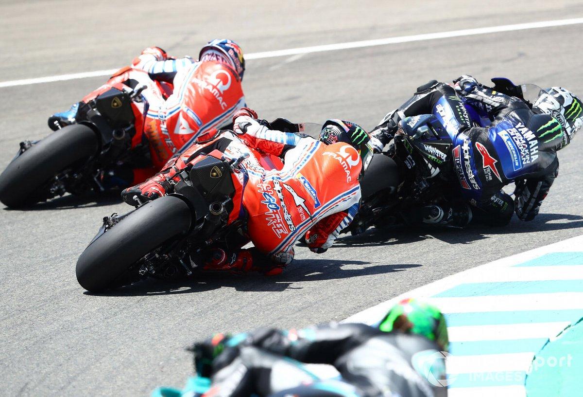 Maverick Viñales, Yamaha Factory Racing, Francesco Bagnaia, Pramac Racing, Jack Miller, Pramac Racing