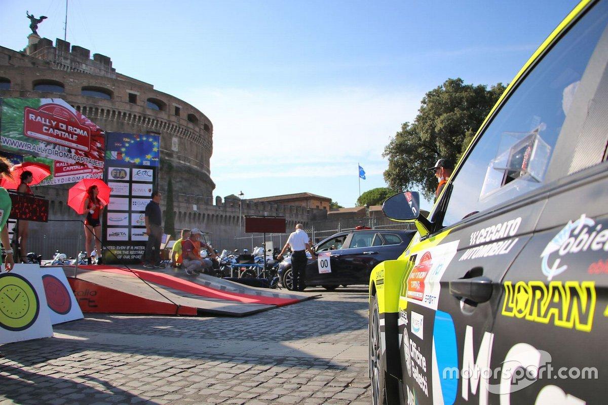 La cerimonia prima della partenza, da Castel Sant' Angelo