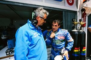 Flavio Briatore, Benetton F1 team principal and Jean Alesi, Benetton