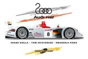 L'Audi R8 victorieuse des 24 Heures du Mans en 2000
