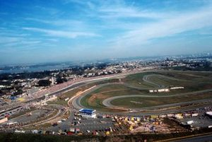 An aerial view of the Interlagos circuit