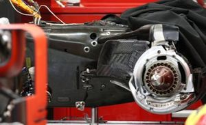 Ferrari SF16-H, carbon case on the gearbox