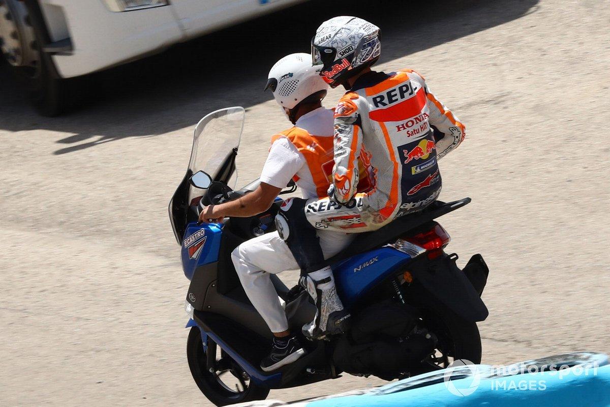 Alex Márquez, Repsol Honda Team después de su caída