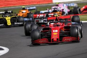 Charles Leclerc, Ferrari SF1000, Romain Grosjean, Haas VF-20, and Daniel Ricciardo, Renault F1 Team R.S.20