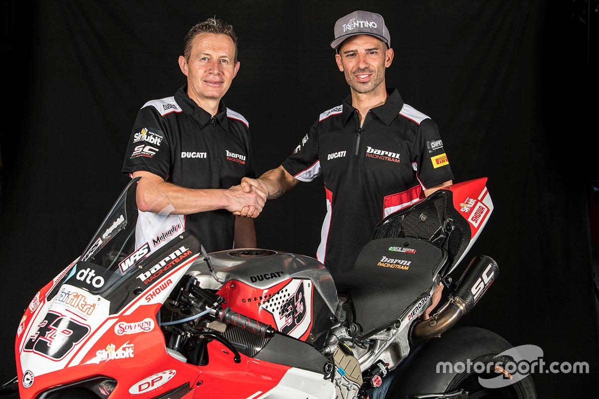 Marco Melandri, Barni Racing Team, mit Marco Barnabo