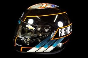 Helmet of J.R. Hildebrand, Dreyer & Reinbold Racing-Chevrolet, for the 2020 Indianapolis 500