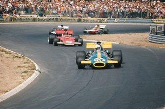 Tim Schenken, Brabham BT33 Ford, Emerson Fittipaldi, Lotus 72D Ford, Rolf Stommelen, Surtees TS9 Ford, Henri Pescarolo, March 711 Ford