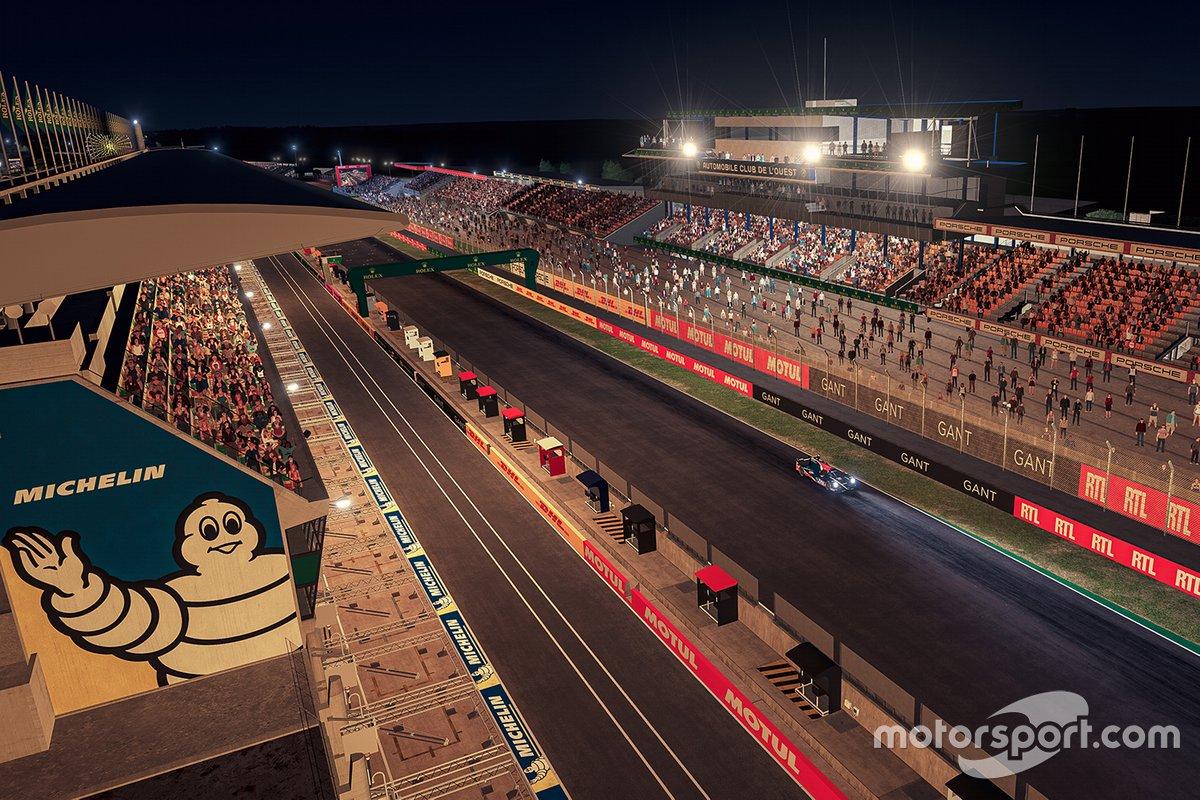 La atmósfera del circuito durante la carrera nocturna
