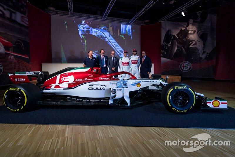 La decoración especial del Alfa Romeo Racing C38 para Monza