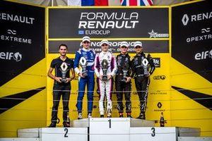 Podium: Alexander Smolyar, R-ACE GP, Oscar Piastri, R-ACE GP, Victor Martins, MP Motorsport, Caio Collet, R-ACE GP