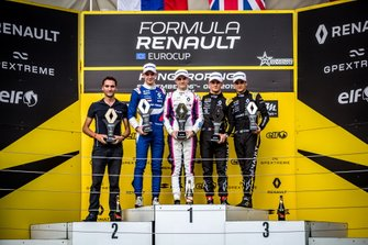 Podium: Alexander Smolyar, R-ACE GP, Oscar Piastri, R-ACE GP, Victor Martins, MP Motorsport, Caio Collet, R-ACE GP