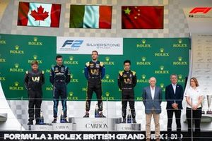 Luca Ghiotto, UNI Virtuosi Racing , Nicholas Latifi, Dams , Guanyu Zhou, UNI Virtuosi Racing