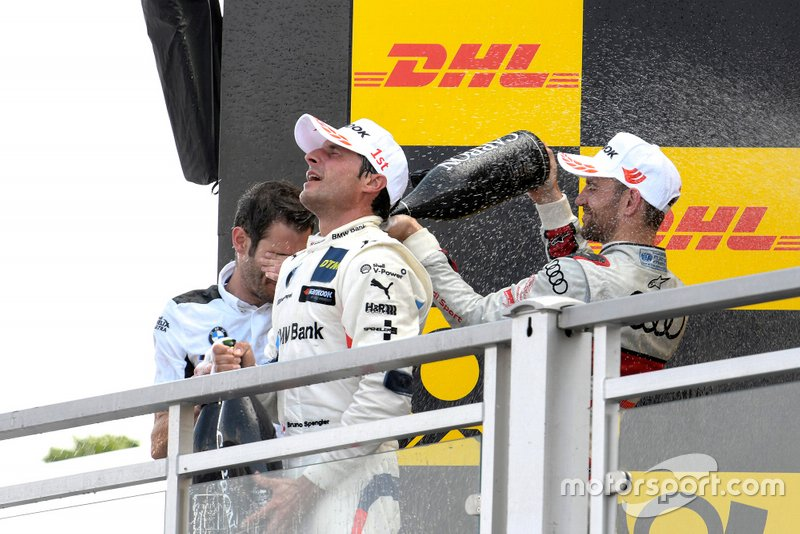 Podium, Bruno Spengler, BMW Team RMG, Jamie Green, Audi Sport Team Rosberg