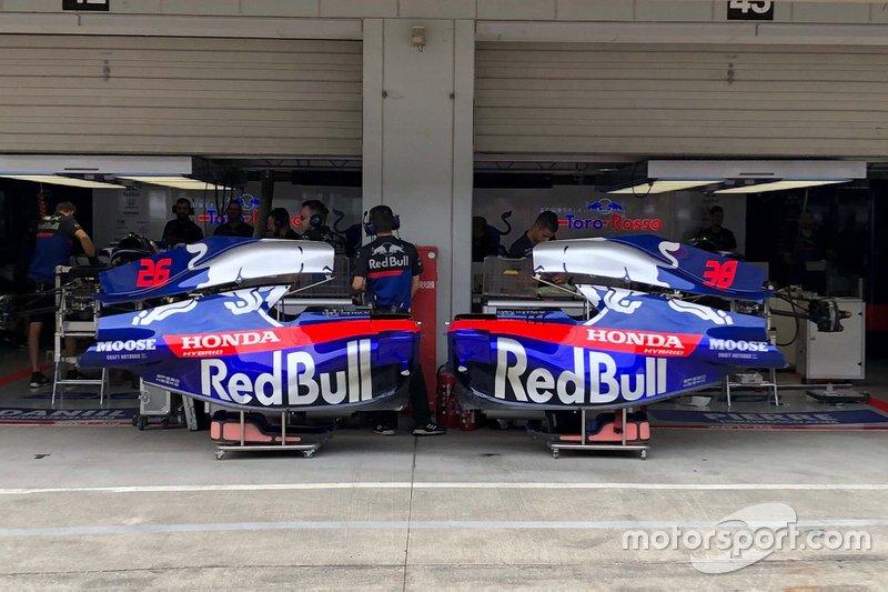 Los chasis de Scuderia Toro Rosso