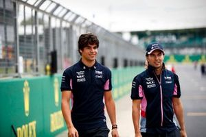 Lance Stroll, Racing Point e Sergio Perez, Racing Point
