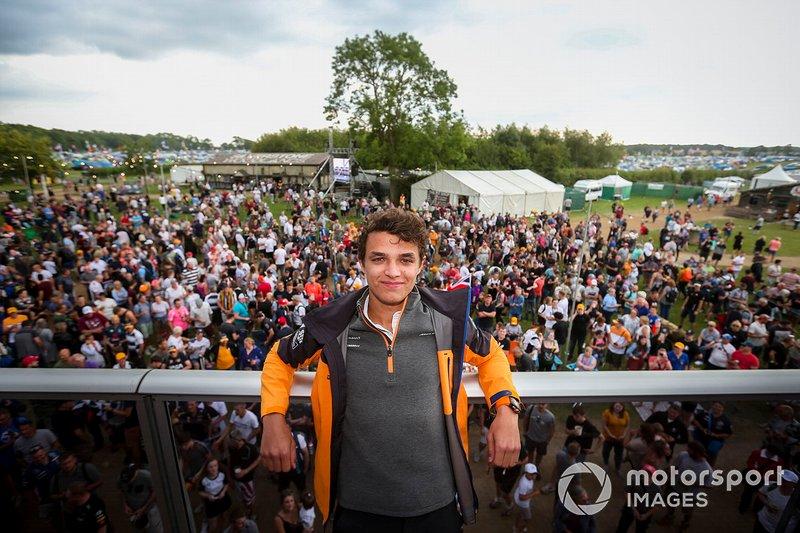 Lando Norris, McLaren with fans