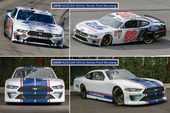 Comparison 2019/2020 NASCAR Xfinity Series Ford Mustang