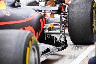 Dettaglio del fondo della Red Bull Racing RB15