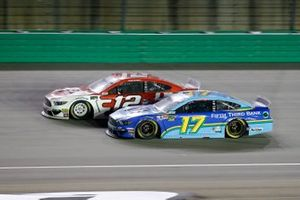Ryan Blaney, Team Penske, Ford Mustang DEX Imaging, Ricky Stenhouse Jr., Roush Fenway Racing, Ford Mustang Fifth Third Bank