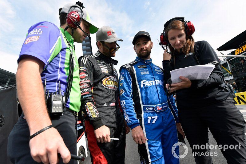 Corey LaJoie, Go FAS Racing, Ford Mustang ARK.io and Ricky Stenhouse Jr., Roush Fenway Racing, Ford Mustang Fastenal